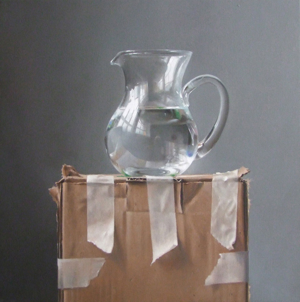 Lucy McKie Water Jug on Cardboard Box
