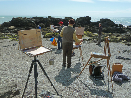 Image of ROI painting weekend in Cornwall