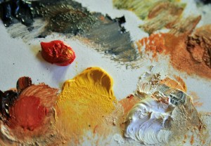 Image of paint on a palette