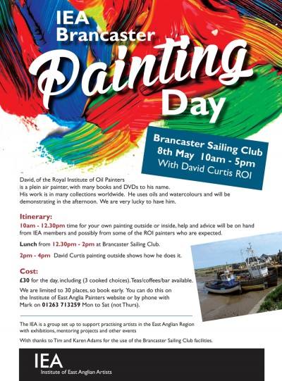 Brancaster Painting Day featuring David Curtis ROI