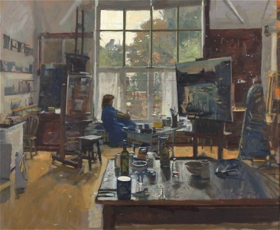 Ken Howard RA ROI and Philip James ROI Studio Day