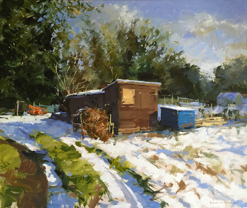 Painting - The thaw, Drove allotments