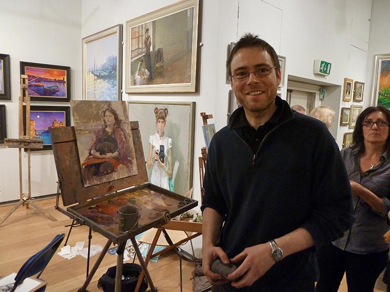 David Pilgrim ROI at the paint evening