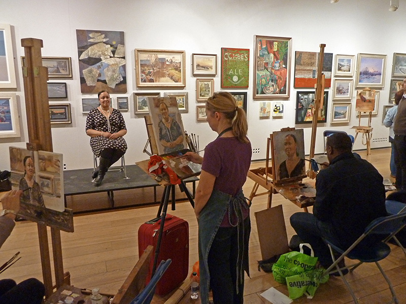 Painting in action at the ROI paint evening