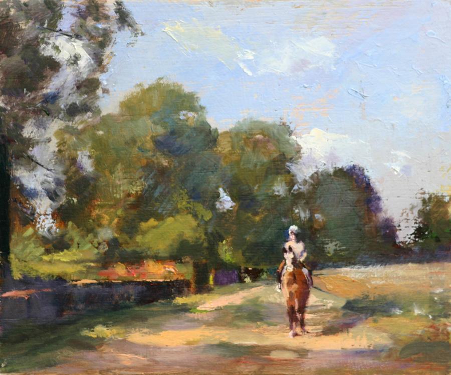 The Bridle Path - painting by Pier Luigi Baffoni