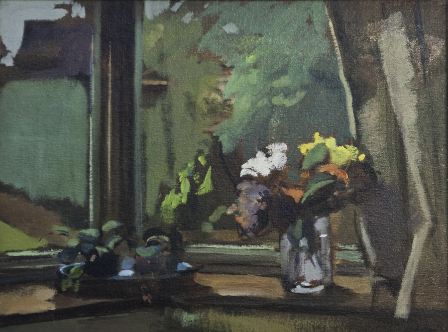 Window - painting by Pier Luigi Baffoni