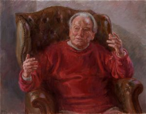 'Sir Neville Marriner', painting by June Mendoza ROI