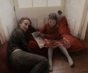 'The reading lesson' by Frances Bell