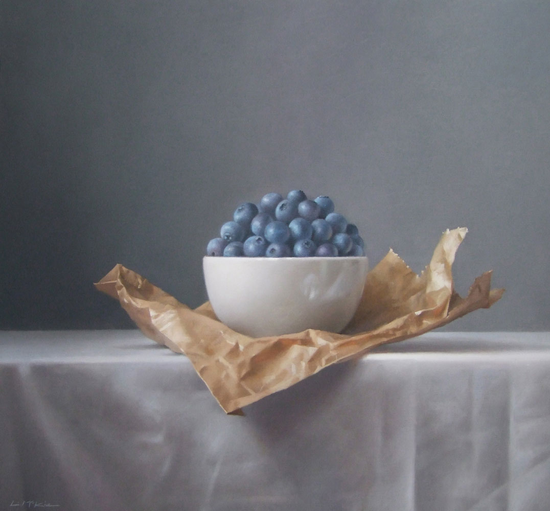 Blueberries on Paper Bag