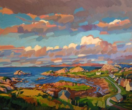 goudie_Evening in Kintra, 120x90cm, Oil on board