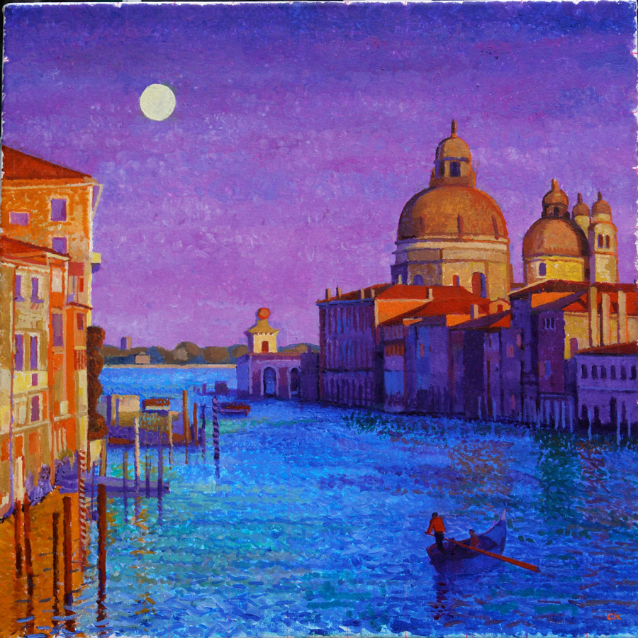 Sunset Moonrise, Venice