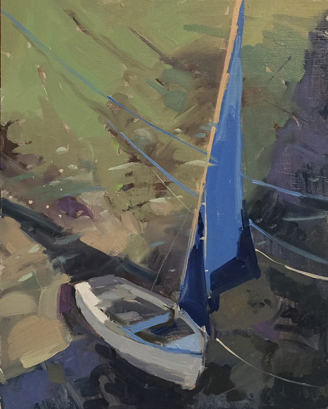 Painting - Blue sail