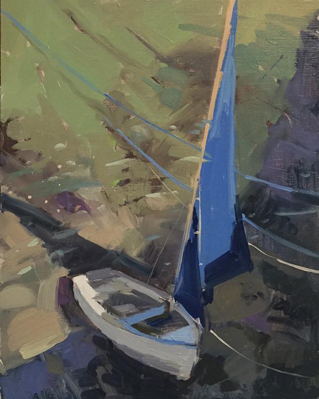 Painting - Blue sail