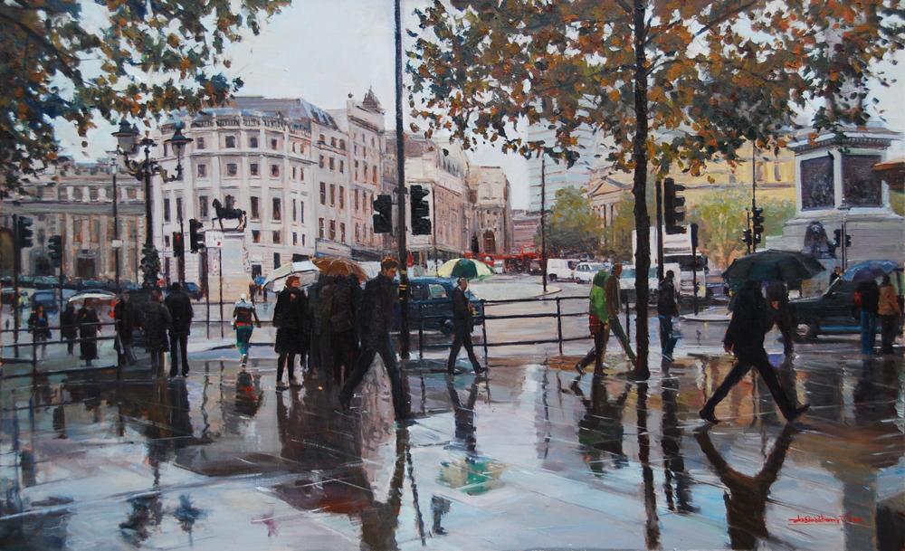Rain, Rain, Rain, London Streets