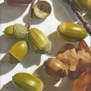 Painting - Acorns