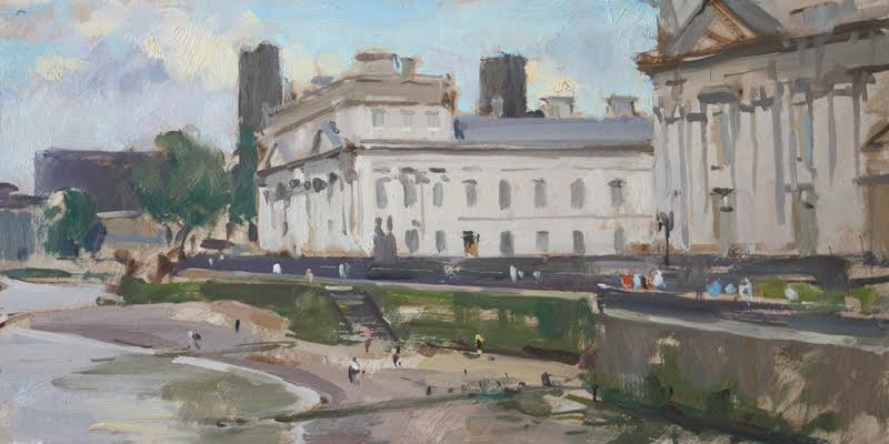 'Old Royal Naval College, Greenwich', 8x16in, oil - by David Pilgrim