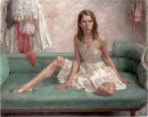 'Leanne Benjamin, ballerina' - painting by June Mendoza ROI
