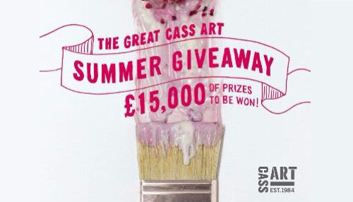Cass Art – £15,000 of prizes to be won