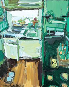 'Green kitchen' by Diana Savostaite