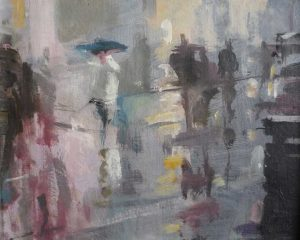 'Rainy Day, Oxford St by Bill Dean ROI