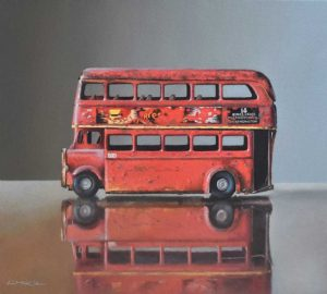 Old Toy Bus on Glass, by Lucy Mckie ROI