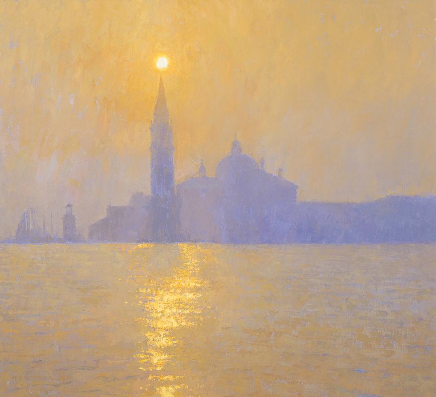 San Giorgio Maggiore in the mist 74x81cm