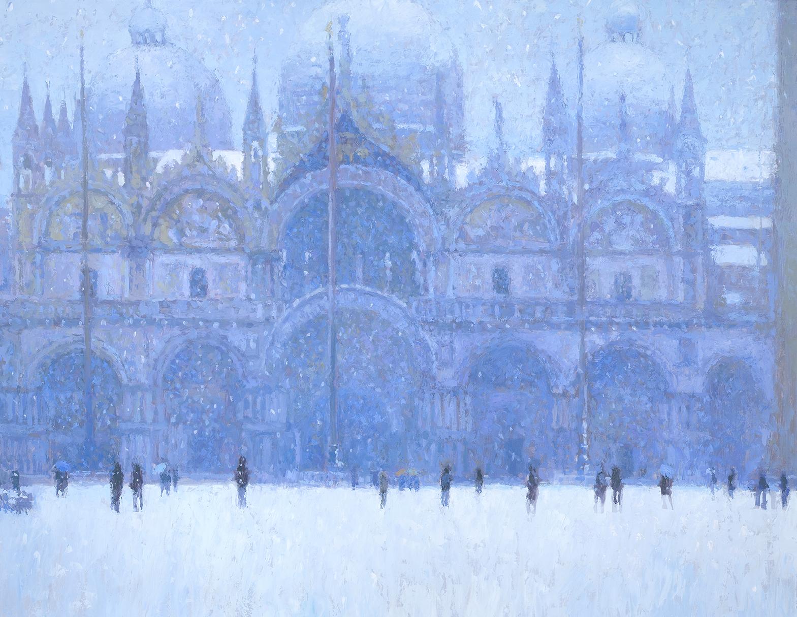 Snow in St Marks square 60x78cm