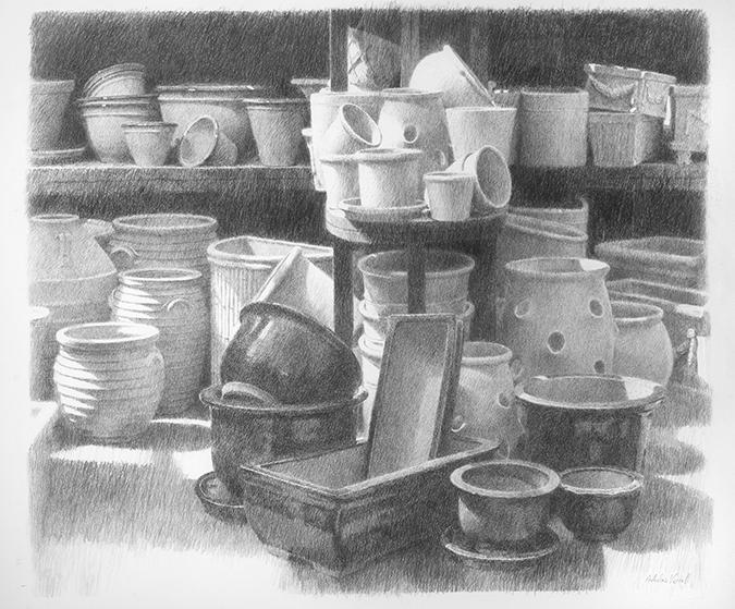 The Potters Yard 75x80 cm