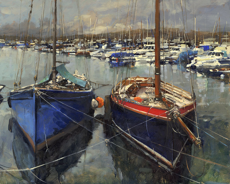 Boats at Mylor Yacht Harbour