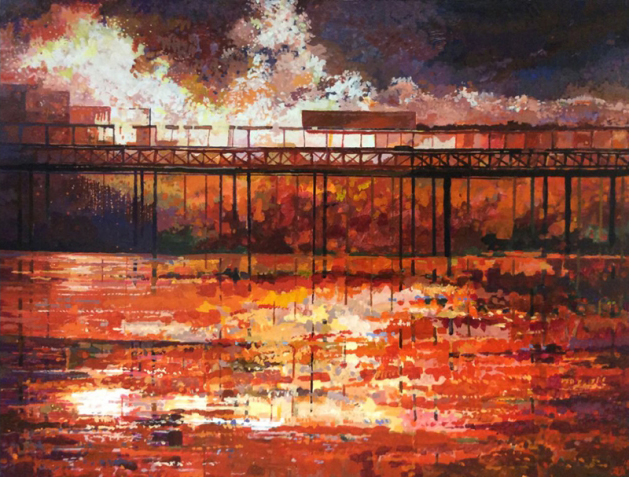 The Great Fire of Hastings Pier