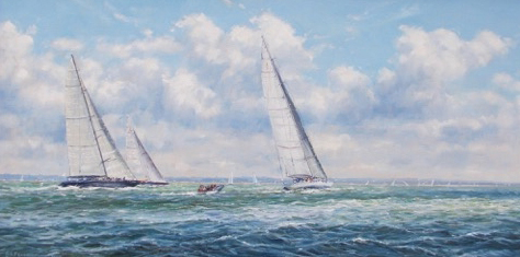J Class racing in the Solent