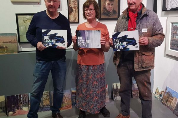 Image of prize winners Ian Layton (left), Carol Owens (centre) and Rod Major (right)
