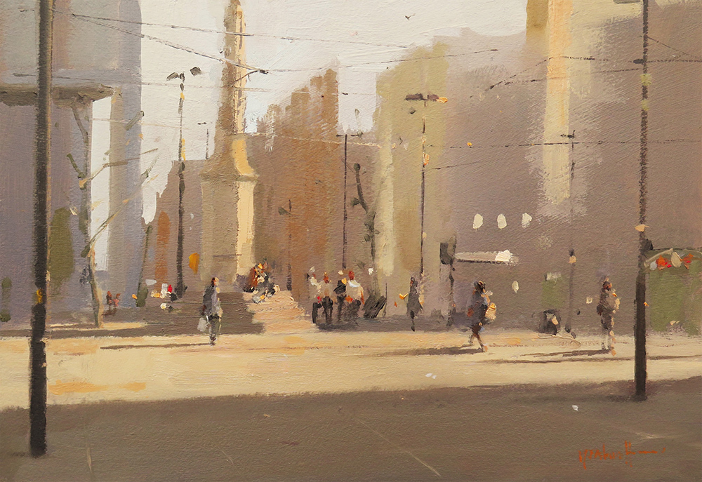 Bathed in Sunshine, St Peter's Square, Manchester 7x10_web