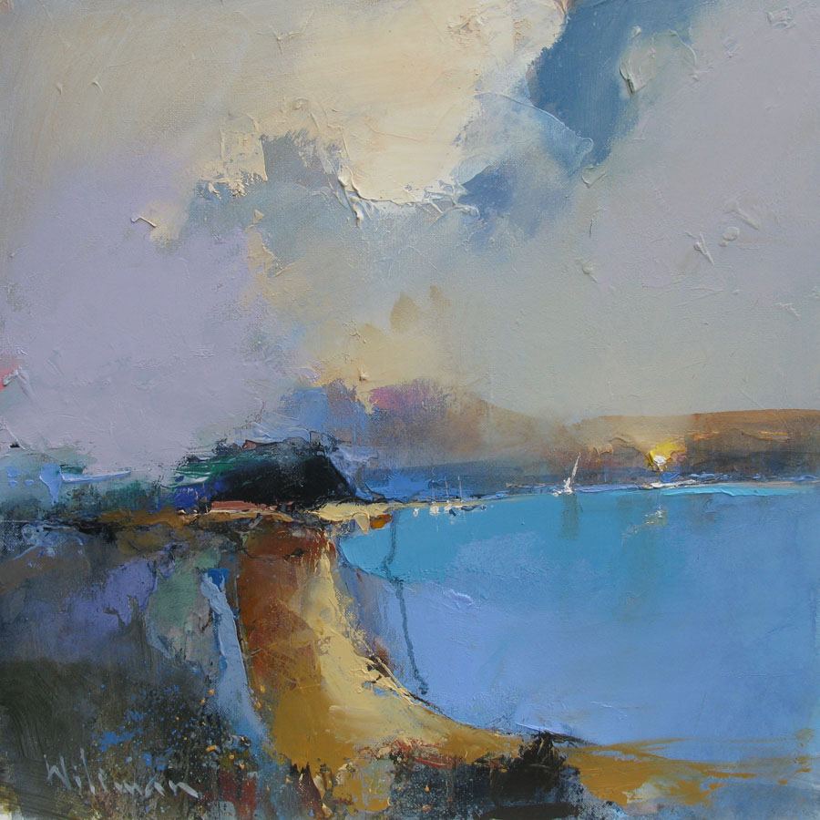 Dawn Rhapsody, 40cm x 40cm, Oil on Canvas painting by Peter Wileman
