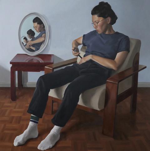 Jess Routley – Self Portrait (on no particular day) – (The Art Academy Portrait Prize)