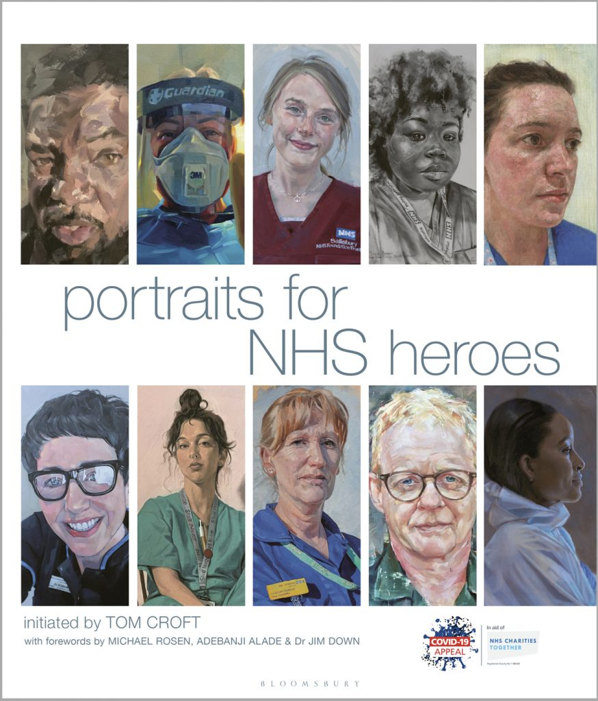 Image of book cover for 'Portraits for NHS Heroes'